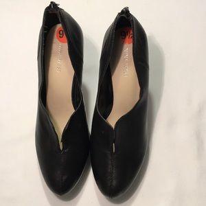 Nine West Leather Booties Black Sz 9.5